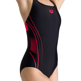 arena Fairness Swim Pro Back One Piece Swimsuit Women black/fluo red